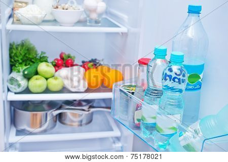 fresh food in the refrigerator