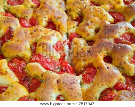 Bread dough Focaccia. Italian Food.