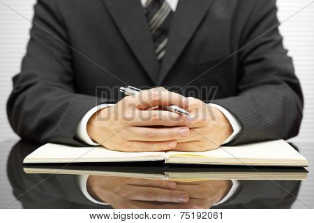 Accountant Listening His Client