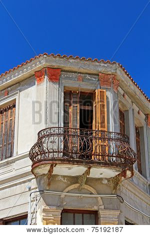 Stone Traditional House In Kastoria City (Epirus, Greece)