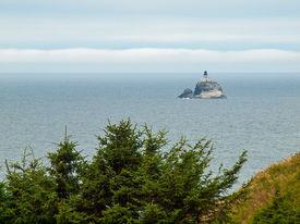 Tillamook Lighthouse Offshore At The Ecola State Park Oregon Usa