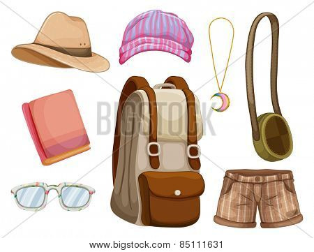 Different hipster items for girl
