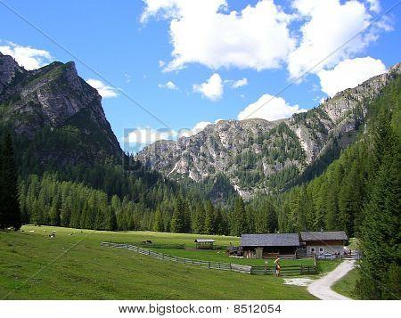 Landschaft der Pustertal, Dolomiten, Italien