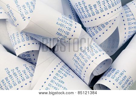 the stripes of a calculator. symbolic photo for cost planning, costing, profit and revenue