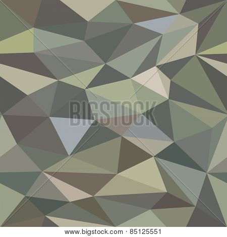 Low Poly Seamless Camouflage Background Pattern