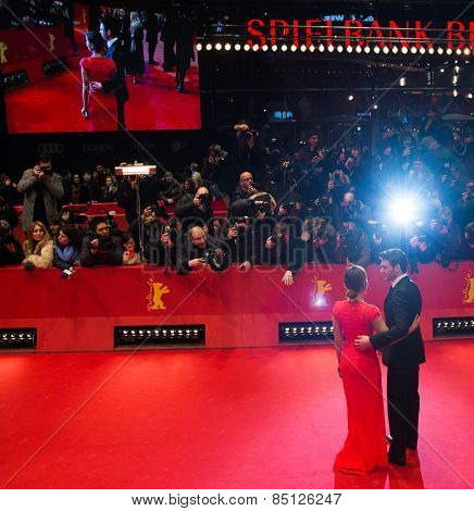 BERLIN, GERMANY - FEBRUARY 13: Richard Madden, Jenna-Louise Coleman attend the 'Cinderella' premiere during the 65th Berlinale Festival at Berlinale Palace on February 13, 2015 in Berlin, Germany.