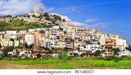 Posada- beautiful hill top village in Sardinia, Italy