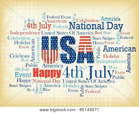 4Th July Word Cloud