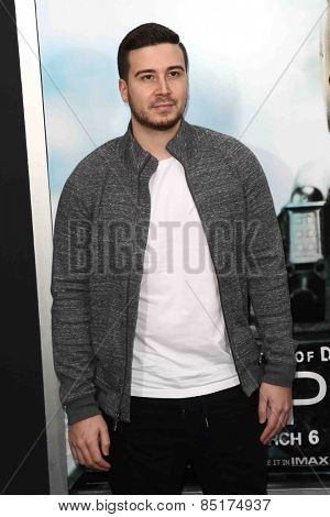 NEW YORK-MAR 4: DJ Vinny Guadagnino attends the premiere of