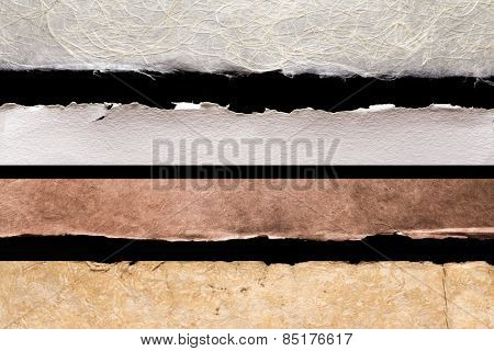 Collection of textured paper background edges for scrapbooking