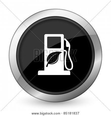 biofuel black icon bio fuel sign