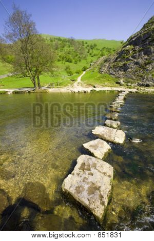 england derbyshire peak district national park valley of the river dove dovedale poster