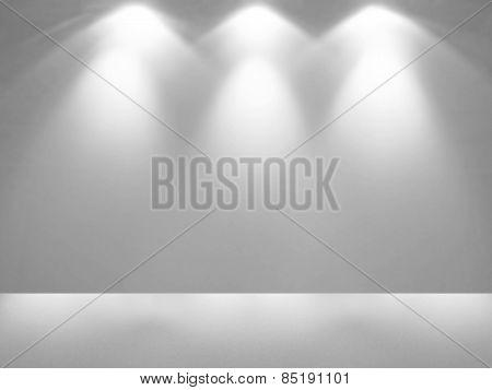Spotlight in empty space