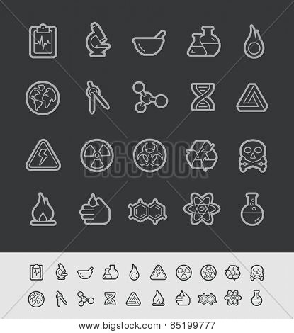 Science Icons // Black Line Series -- EPS 10+ Contain Transparencies