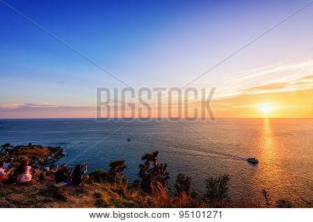 Colorful Landscape Beautiful Sunset