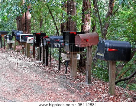 Mailboxes On Side of Road