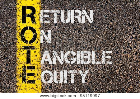 Business Acronym Rote As Return On Tangible Equity