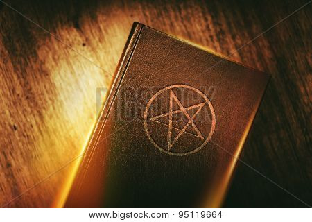 Mysterious Book With Pentagram