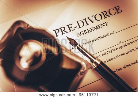 Pre Divorce Agreement