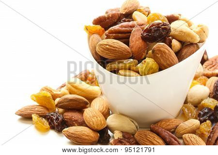 Mixed Nuts Healthy snack close up shot