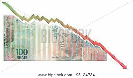 Real declining Graph bill
