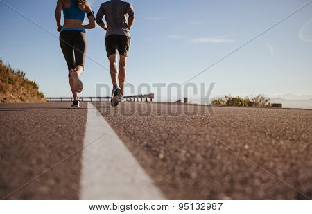 Two Young People On Morning Run