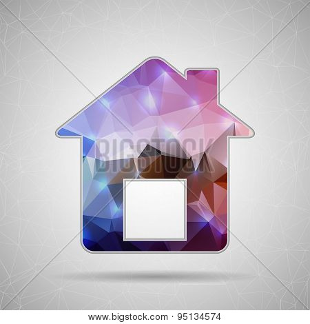 Abstract Creative concept vector icon of house for Web and Mobile Applications isolated on backgroun