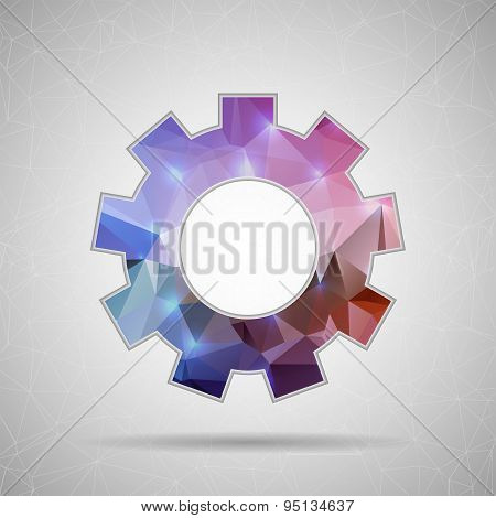 Abstract Creative concept vector icon of gear wheel for Web and Mobile Applications isolated on back