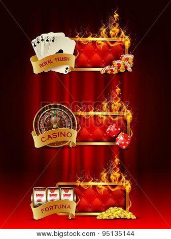 Casino banners set.