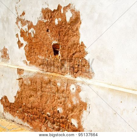 Santo Antonino Lombardy  Varese Abstract   Wall Of A Curch Broke Brike