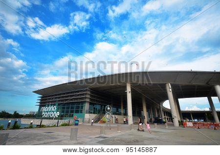 Peoples Visit Marina Barrage