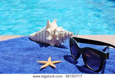 Swimming pool sunglasse shell