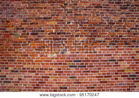 Rustic Red Bricks Street Wall