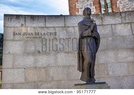 San Juan De La Cruz Statue Avila Castile Spain