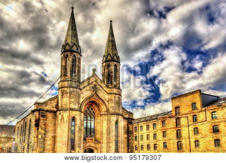 A church in Leith district of Edinburgh - Scotland poster