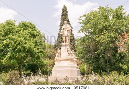 Ioannis Varvakis statue in Sintagma Athens.