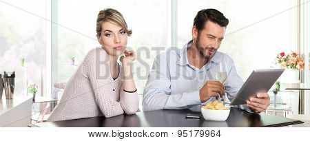 relationship problems woman disappointed man indifference