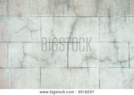 Wall Of Pale Gree Bricks