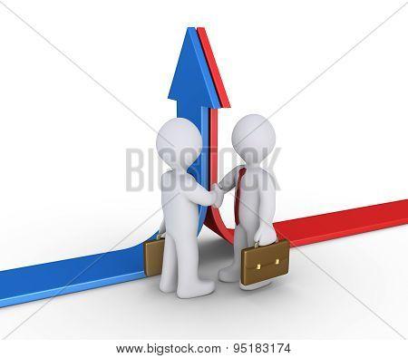 Businessmen Agree After Conflict