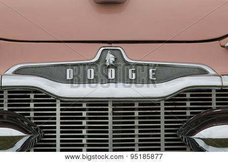 1959 Pink Dodge Coronet Car Grill View