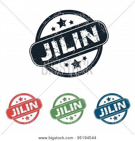 Round Jilin city stamp set