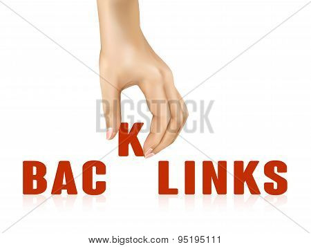 Backlinks Word Taken Away By Hand