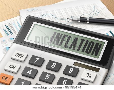 Calculator With The Word Inflation
