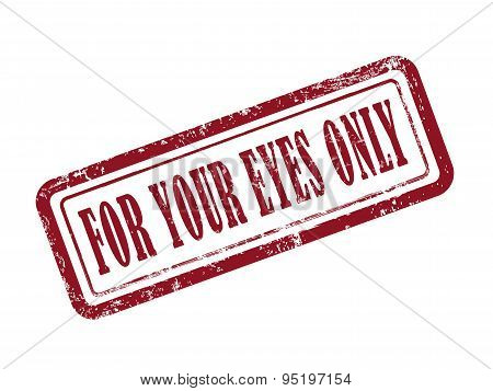 Stamp For Your Eyes Only In Red