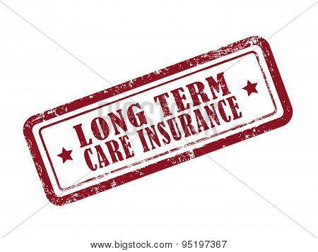 Stamp Long Term Care Insurance In Red
