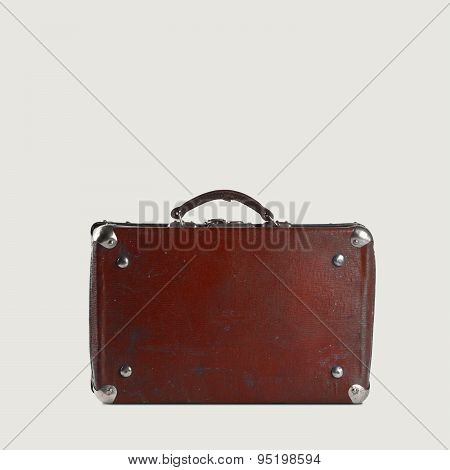 Old-fashioned Brown Travellers Bag