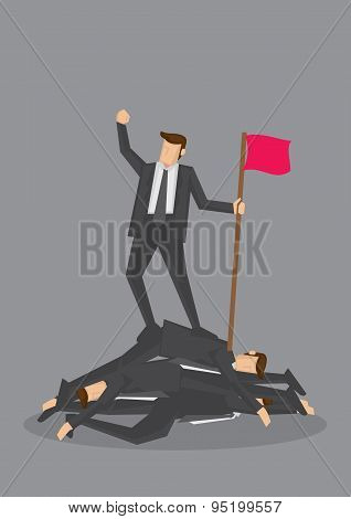 Ruthless Victory Business Concept Vector Illustration