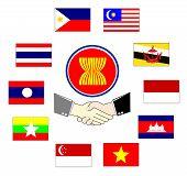 aec asean economic community 10 asean country hand shake poster