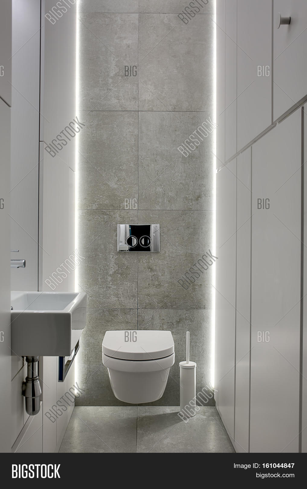 bathroom lockers. Restroom In A Modern Style With Gray Tiles And White Lockers. There Is Bathroom Lockers