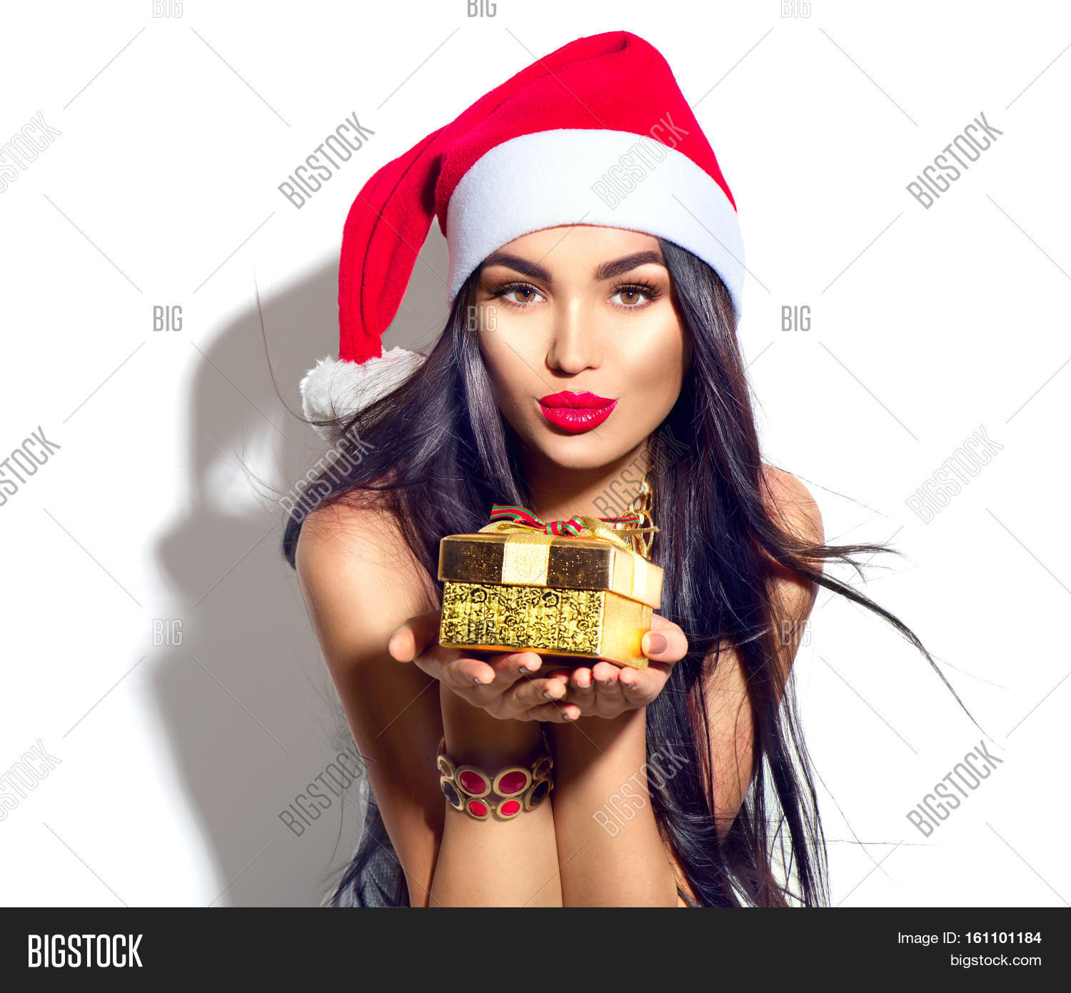Christmas Model.Beauty Christmas Image Photo Free Trial Bigstock